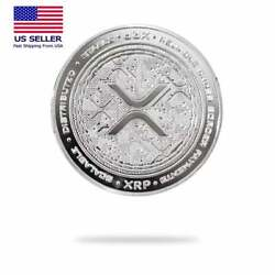 Kyпить Cryptochips XRP (Ripple) Physical Crypto Collectable Coin Silver Color на еВаy.соm