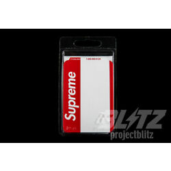 SUPREME NAME BADGE STICKERS RED PACK OF 100 FW20