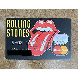 Kyпить Vintage 1990's Rolling Stones Tongue Credit Card Expired Obsolete на еВаy.соm