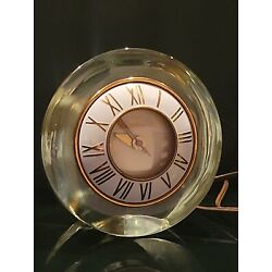 Kyпить Modernist Gold Mercury Mystical Glass Clock by Telechron Works & Looks Great  на еВаy.соm