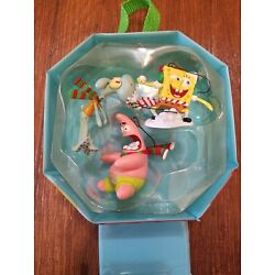 Kyпить Set of 3 Sponge Bob and Patrick Christmas Ornaments in Case Pre Owned  на еВаy.соm