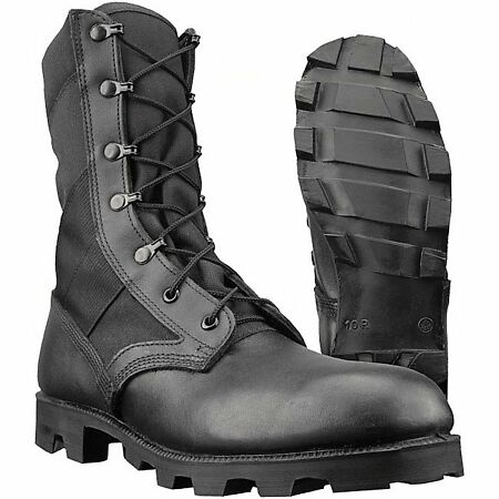img-Genuine British U.S. Army Issue Wellco Jungle Combat Leather Boots Size 11 45 M