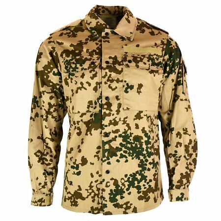 img-ORIGINAL GERMAN ARMY SHIRT DESERT TROPIC CAMO FIELD COMBAT JACKET BW MILITARY