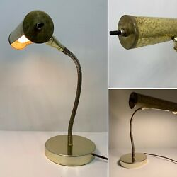 Kyпить Vintage Brass/Gold Shade Bankers Piano Gooseneck Desk Table Lamp Light на еВаy.соm