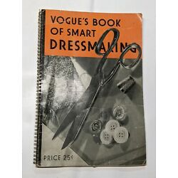 Kyпить Vogue's Book of Smart Dressmaking Vintage Spiral Bound 1940 на еВаy.соm