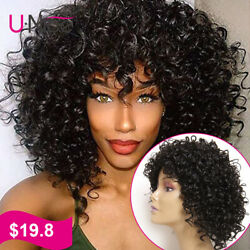 UNice Curly Wig Black Wigs Heat Resistant Synthetic Hair Wigs For Black Women US