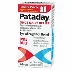 Kyпить TWIN PACK Alcon Pataday Once Daily Relief Eye Allergy Itch Relief - 2.5ml (each) на еВаy.соm