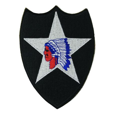 img-2nd Infantry Division Patch Indian Head WW2 Repro Iron-on Badge Army Uniform NEW