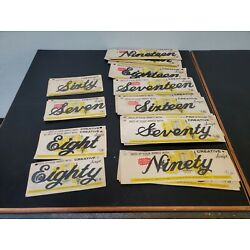 NOS VTG Mid Century Modern Creative Script Cursive House Numbers Spell Out