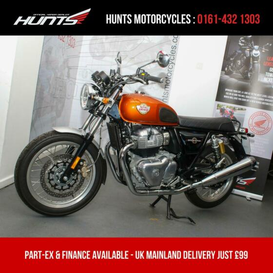 2019, '69 Royal Enfield Interceptor 650 ABS. 1 Owner. ONLY 1,007 MILES. £4,995