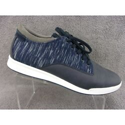 Aldo mens navy blue leather and synthetic lace up fashion sneakers US12