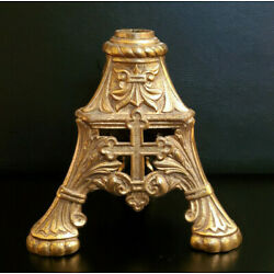 Kyпить Vintage Antique Church Altar Brass Cross Base Stand на еВаy.соm