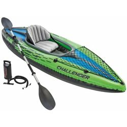 Kyпить ????Intex Challenger K1 Kayak-1-Person Inflatable Kayak Set w/ oars and pump FAST на еВаy.соm