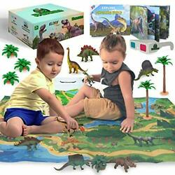 Kyпить 3D Dinosaur Toys Playset - 3D Dinosaur Book and Double-Sided XL Activity Play  на еВаy.соm