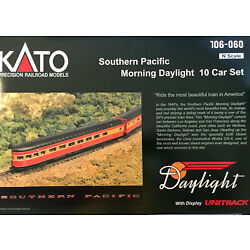 Kyпить Kato N-Scale SP Daylight 10 car set with DCC equipped GS-4 Locomotive на еВаy.соm