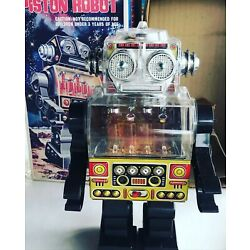 Kyпить Piston Robot battery-operated Space Explorer Original Box на еВаy.соm