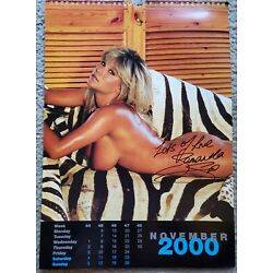 Kyпить SAMANTHA FOX Glamour Model Singer Signed Original Autograph Large Calendar Photo на еВаy.соm