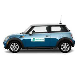 MAGNETIC DELIVEROO CAR SIGN FOOD DELIVERY TAKEAWAY UBEREATS JUST EAT