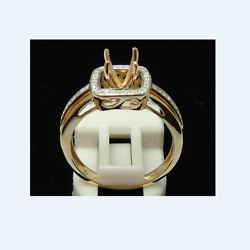 Kyпить 6-7mm Round Engagement Wedding Diamonds Ring Semi Mount Setting 14K Yellow Gold на еВаy.соm