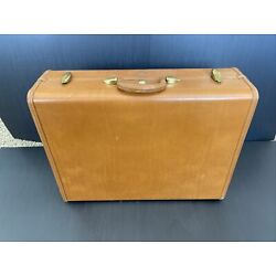 Kyпить Vtg Samsonite Brown Leather Hard Shell 24