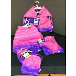 Top Paw Pink & Purple Ombre Puffer Jacket for Dogs~ Choice of XS, S, L, XL~ NEW!