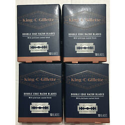 King C Gillette Double Edge Safety Razor Blades,10 ct/box, Lot of 4 (40 Blades)