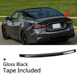 Fit For 2016-2021 NISSAN Maxima Sport Type Rear Tail Trunk Lip Spoiler Wing Trim