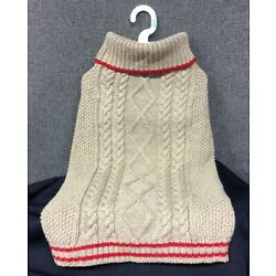Top Paw Tan w/Red Stripes Dog Sweater~ Choice of XS,S,M,L,XL~ New with Tags!
