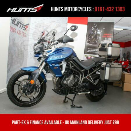 2018, '68 Triumph Tiger 800 XRT ABS. 1 Owner. ONLY 2,090 MILES. £10,295