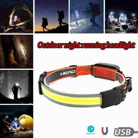 img-Outdoor Night Runner Headlights 1200MA USB Rechargeable Built-in Battery T9N1