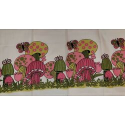Kyпить Vintage 3-Piece (Merry) Psychedelic Mushrooms Curtains With Valance & 2 Panels на еВаy.соm