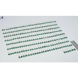 Kyпить WHOLESALE 121PR 925 SILVER PLATED FACETED GREEN EMERALD HOOK EARRING LOT 1 n922 на еВаy.соm