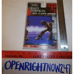 TRANSFORMERS PEEL & STICKER BORDER 5''x5' REMOVABLE & REPOSITIONAL 2007