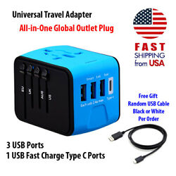 Travel Adapter Universal International Power 160 Countries with Type C Fast Ship