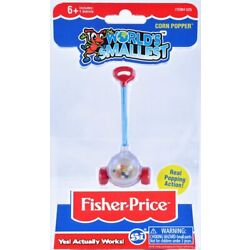 Worlds Smallest Fisher Price CORN POPPER Working Toy NEW IN PACKAGE