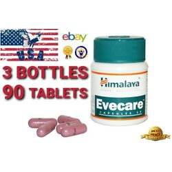 3 BOX Himalaya EVECARE 90 Caps regularizes the menstrual cycle and pain relief