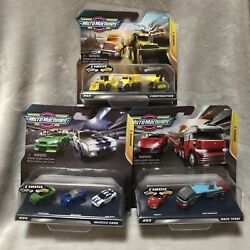 NEW X3 Hasbro Series 1 Micro Machines Muscle Cars Race Team Construction Toy Set