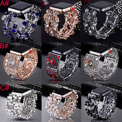 38/42/40/44mm Bling Links Bracelet For Apple Watch Band iWatch Series 6/5/4/3/2