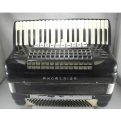 EXCELSIOR PROFESSIONAL MODEL PIANO ACCORDION 120 BASS  - Free Shipping