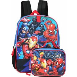 NWT Marvel Avengers Full Size Backpack with Detachable Lunch Box