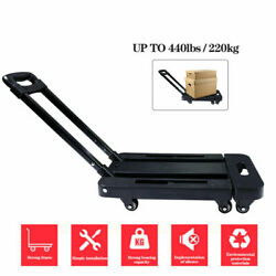 440LB Hand Truck Dolly Convertible Folding Platform Cart Trolley with 6 Wheels