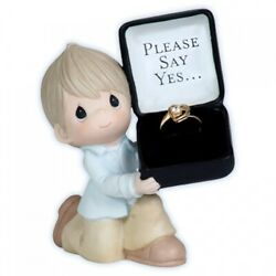 Precious Moments For the One I love, She Said Yes Figurine- Engagement Gift