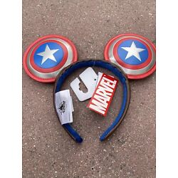 Disney Parks Marvel Captain America Mickey Ears headband. Sold Out Resort Wide