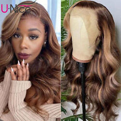 UNice Brazilian Ombre Blonde Body Wave Lace Front Human Hair Wig 150% Density US