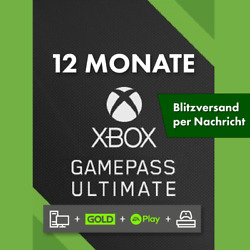 XBOX GAME PASS ULTIMATE ✅ 12 MONATE ✅ 1 Code ????+ LIVE GOLD ✅ + EA PLAY  ⚡INSTANT