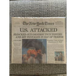 NEW YORK TIMES NEWSPAPER 9-12-2001 From 9/11