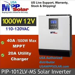 PIP 1012LV-MS 120V 12VDC 1KW Output 40A  MPPT, 20A Generator Charging