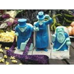 Disney Haunted Mansion 3 Hitchhiking Ghosts COMPLETE SET Popcorn Bucket & Sipper