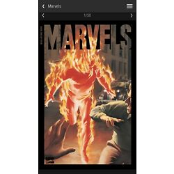 Veve - Marvels #1 Marvel digital comic collectible - Human Torch Alex Ross