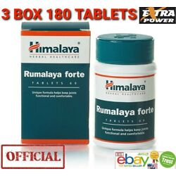 Himalaya RUMALAYA FORTE OFFICIAL USA 3 pack 180 Tablets Treat Pain Back Relief